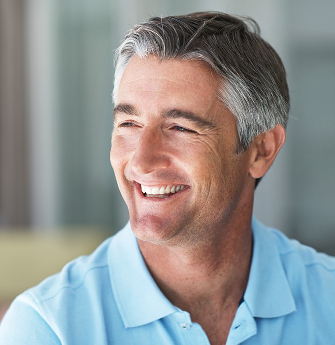 Man's flawlesssmile after dental bonding